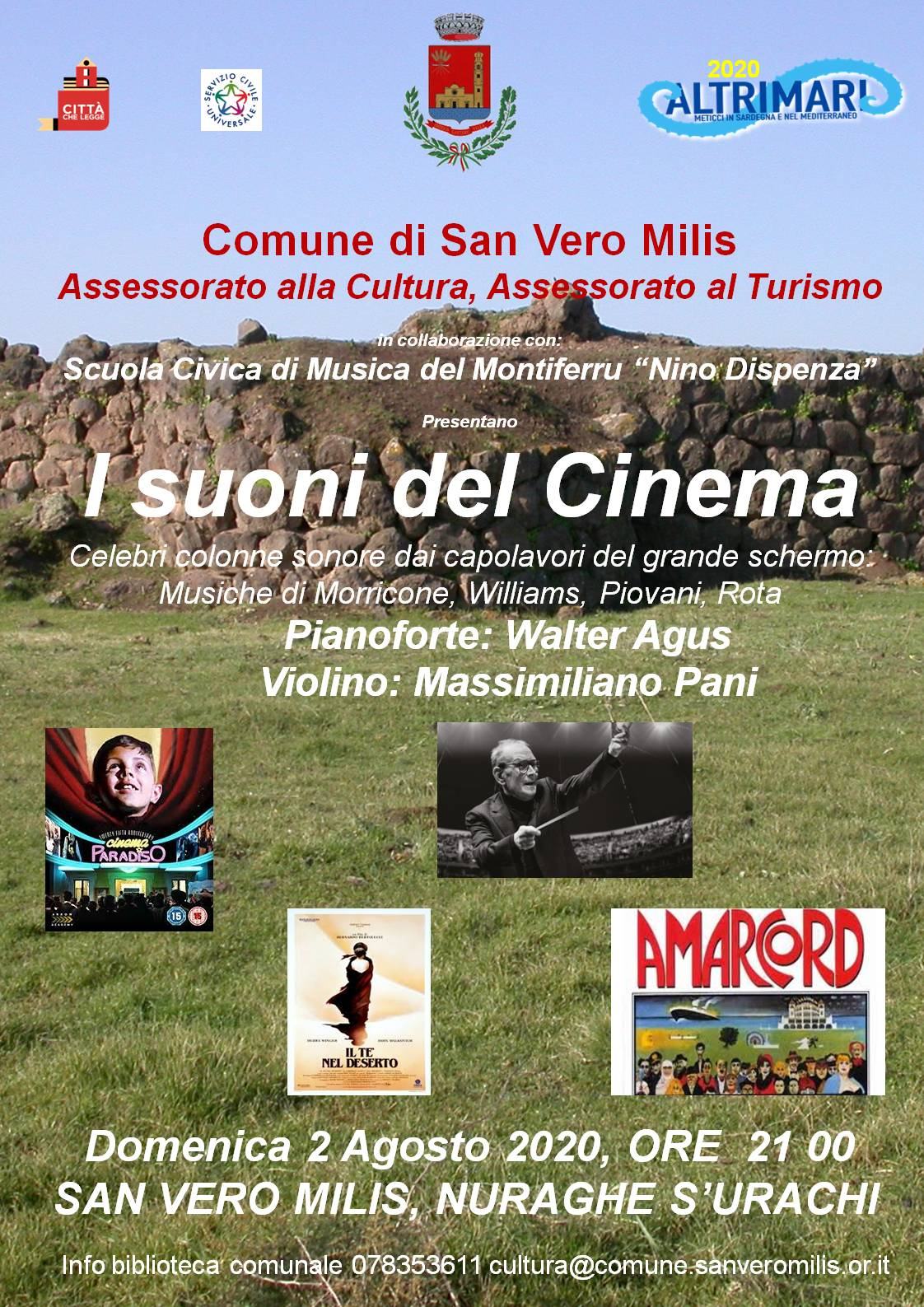 Altrimari – Concerto il 2 agosto 2020 Nuraghe S'Urachi – San Vero Milis