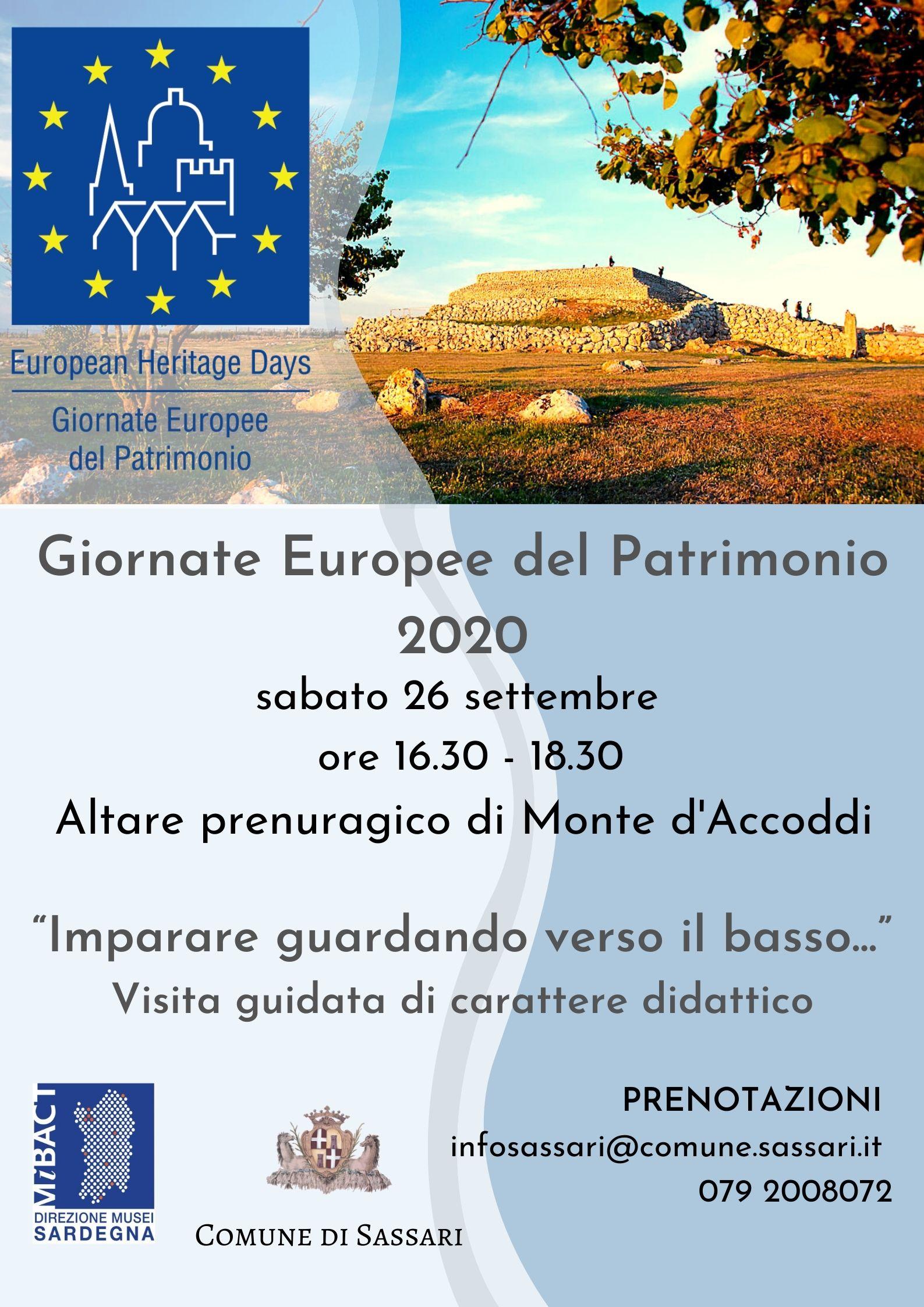Giornate europee del patrimonio, Sassari presenta Monte d'Accoddi