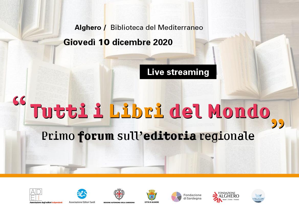 """""""Tutti i libri del mondo"""", da Alghero il primo Forum sull'editoria regionale"""